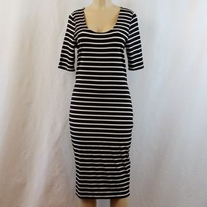Bar III Striped Knit Rayon Dress